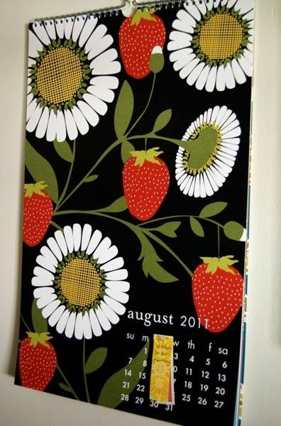 A calendar can add some great color to a room. It's functional art!