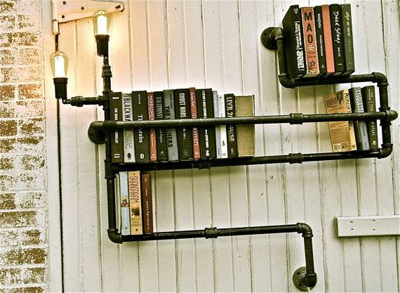 Bookshelf Industrial Lighting Level 3