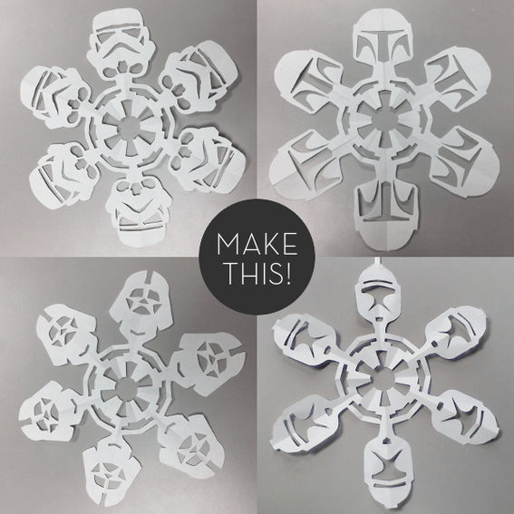 DIY Star Wars Snowflakes (FREE!)
