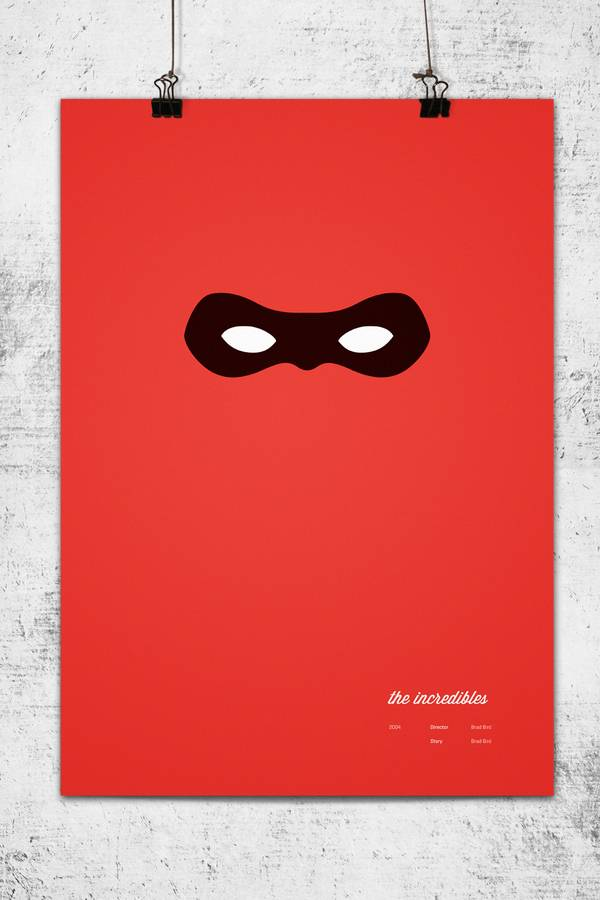 Minimalist Incredibles Poster