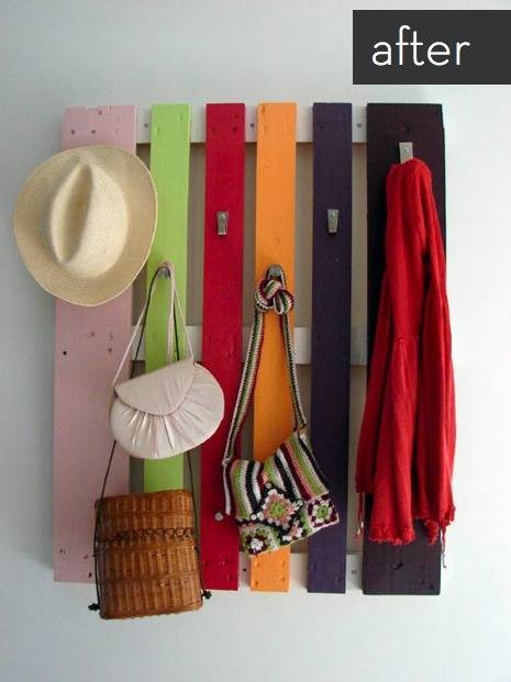 wood pallet idea - coat rack
