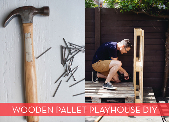 wood pallet project: playhouse diy