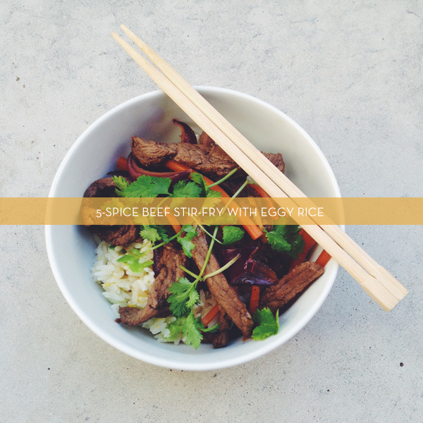 5-Spice Beef Stir-fry With Eggy Rice