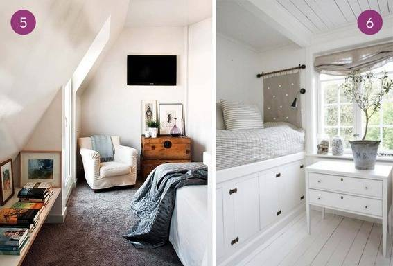 A multi-purpose room with a small extra bed, and a bed with drawers underneath.
