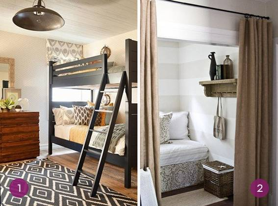 Eye Candy: 10 Genius Small Space Guest Bedroom Ideas