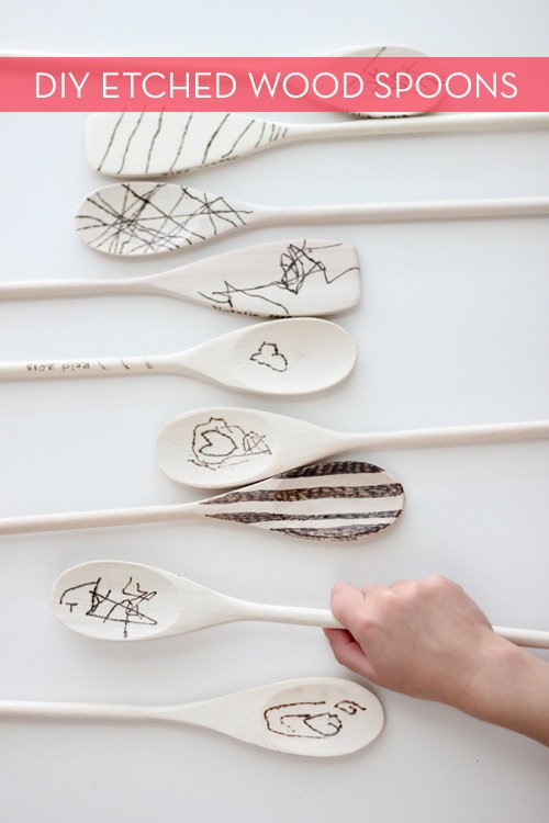 ETCHED WOOD SPOONS