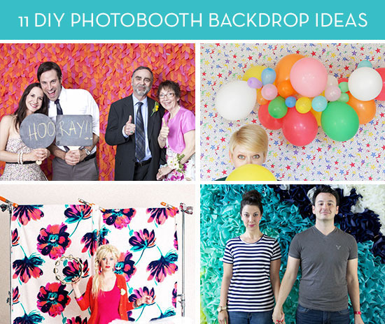 Roundup 11 DIY Ideas For Photobooth Backdrops Curbly
