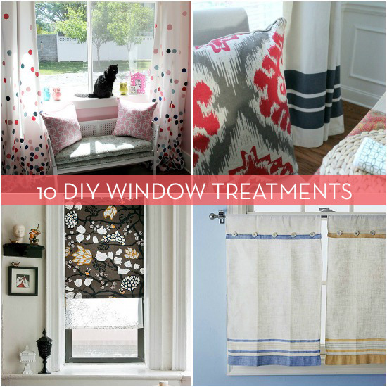10 diy window treatments