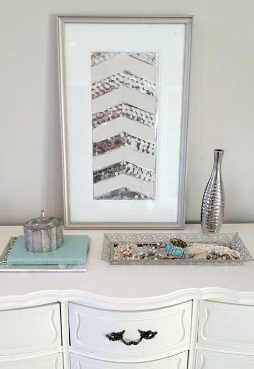 sequin wall art