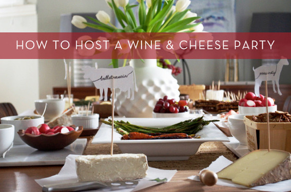 How to host a simple wine and cheese party.