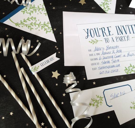 Free Printable: Botanical Themed Party Suite