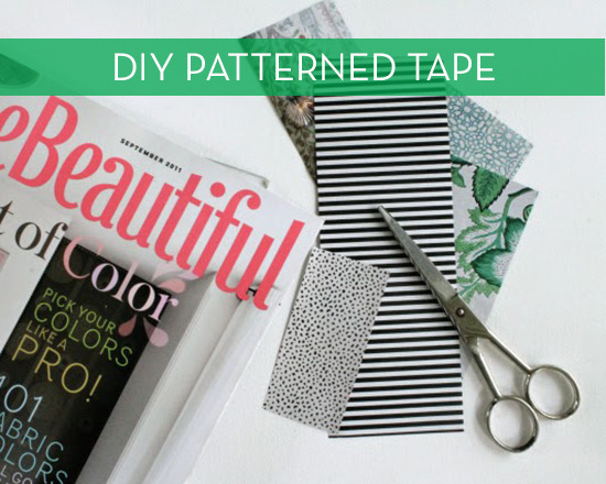 DIy Patterned tape