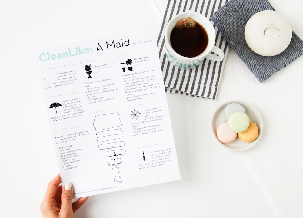 Clean Like a Maid with this FREE Downloadable Cheat Sheet