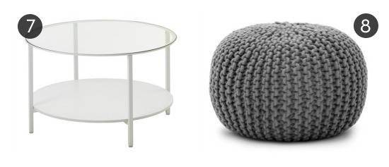 10 Ottomans & Coffee Tables For $60 or Less