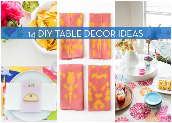 14 diy table decor projects