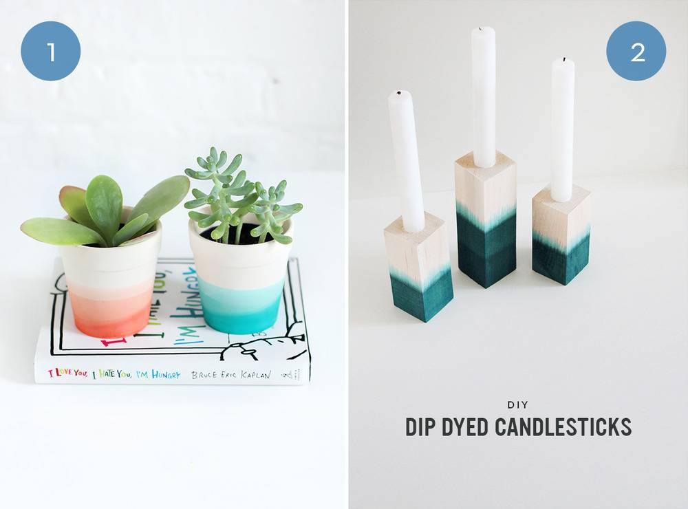 10 Colorful Dip Dyed DIY Projects