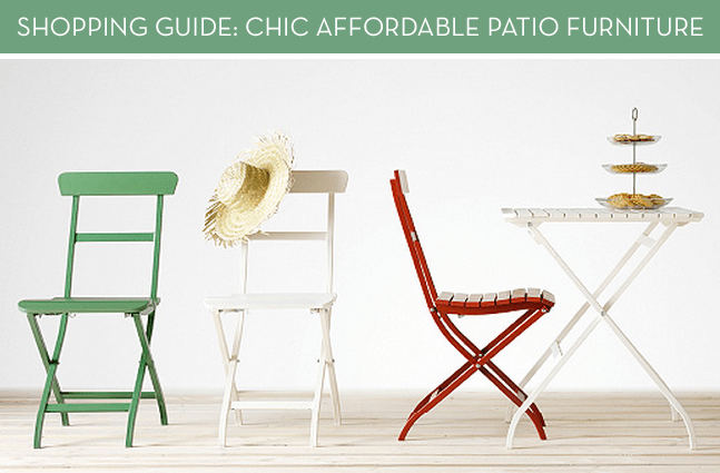 Shopping Guide: Affordable + Modern Patio Furniture You'll Actually Want In Your Backyard