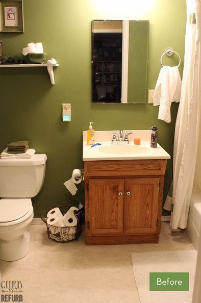 Before and After: A $91 Bathroom Makeover