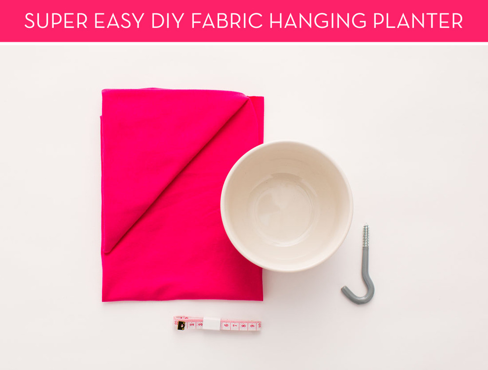 How-To: Incredibly Easy Fabric Hanging Planter