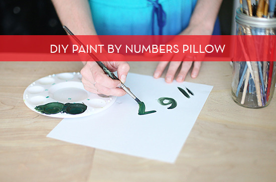diy paint by numbers throw pillow