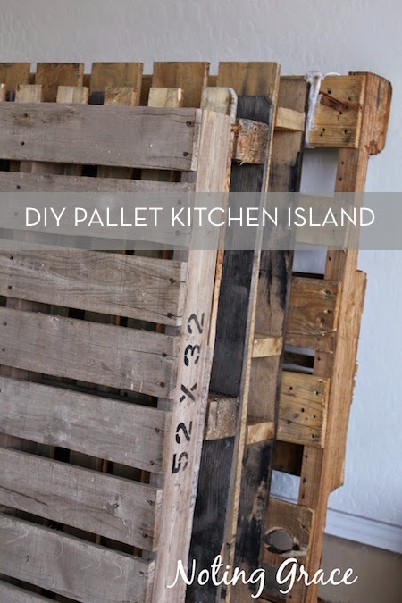 wood pallet projects: used for DIY kitchen island