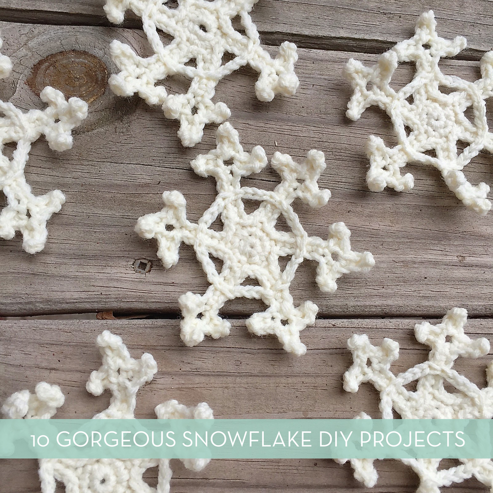 Roundup: 10 Wintery Snowflake DIY Projects
