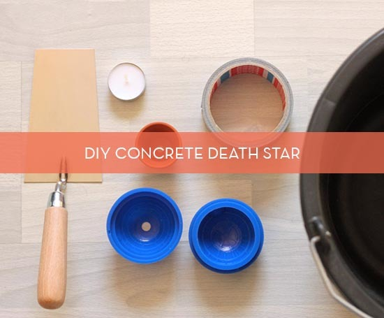 diy concrete death star