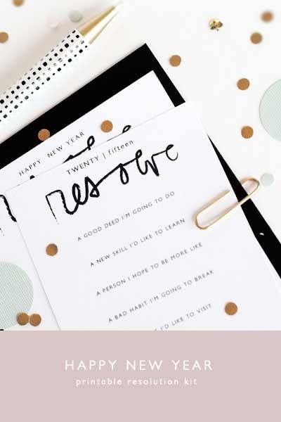 Roundup: 10 of Our Favorite Printable New Year's Resolutions