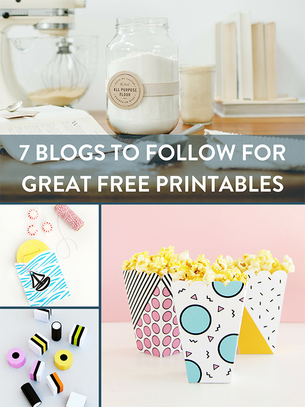 7 Blogs to Follow for Great Free Printables
