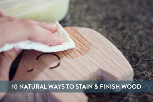 10 all-natural ways to finish wood