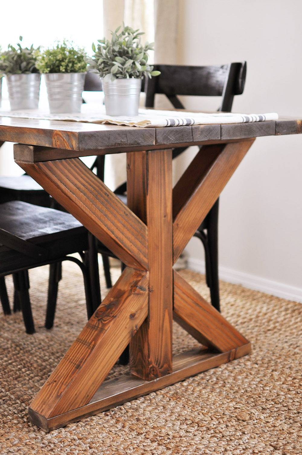 Industrial chic trestle table