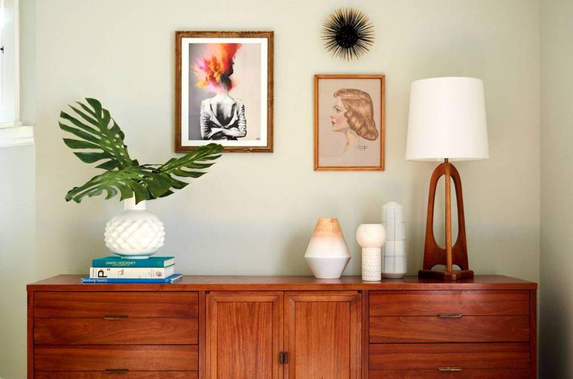 A mid-century modern styled credenza