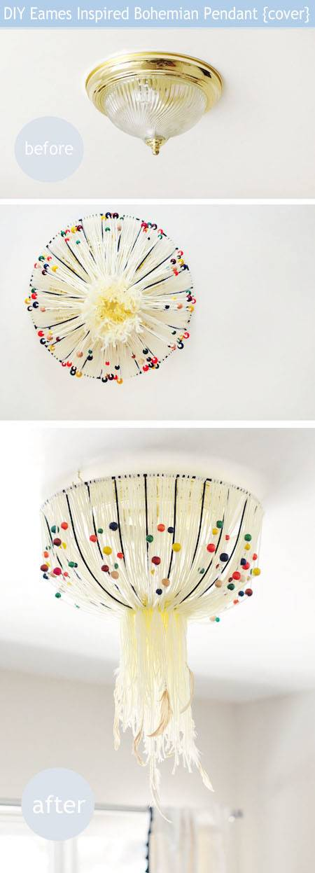 Maegan's Eame's inspired light fixture cover
