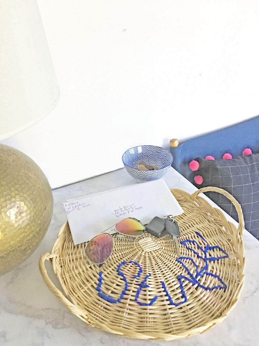 Make It: Upcycle a Thrift Store Basket With Yarn