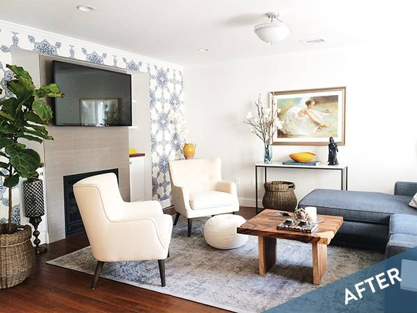 Before and After: A Dramatic Living Room Makeover