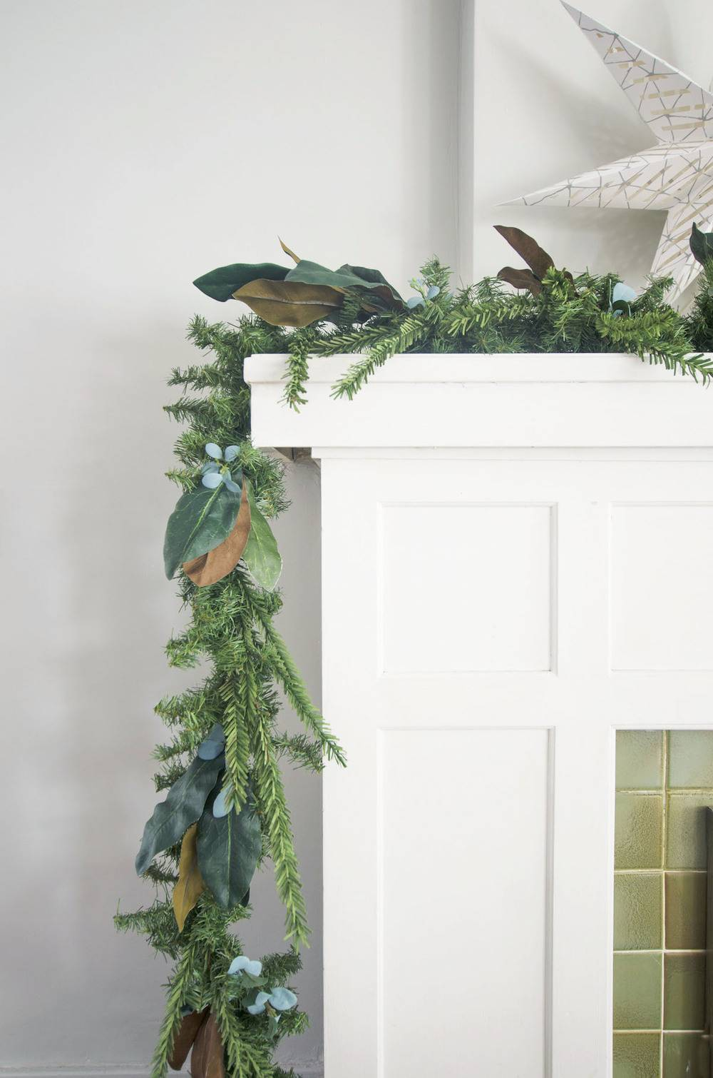How to make inexpensive Christmas garland look expensive