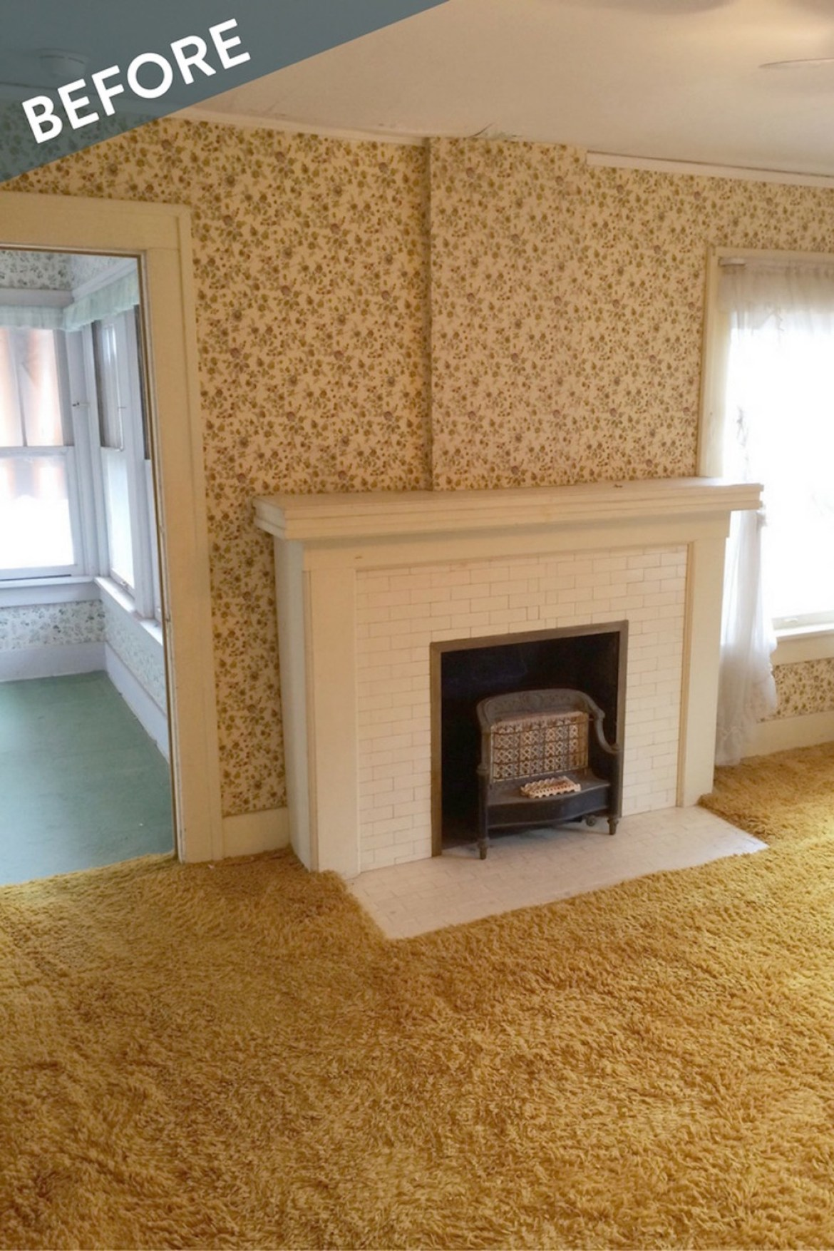 Fireplace Mantel Makeover