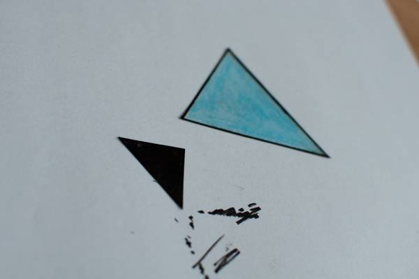 step 5 for faux fused glass geometric fox