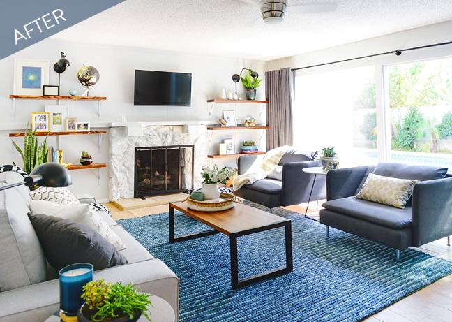 Before and After: A Stylish Living Room Transformation