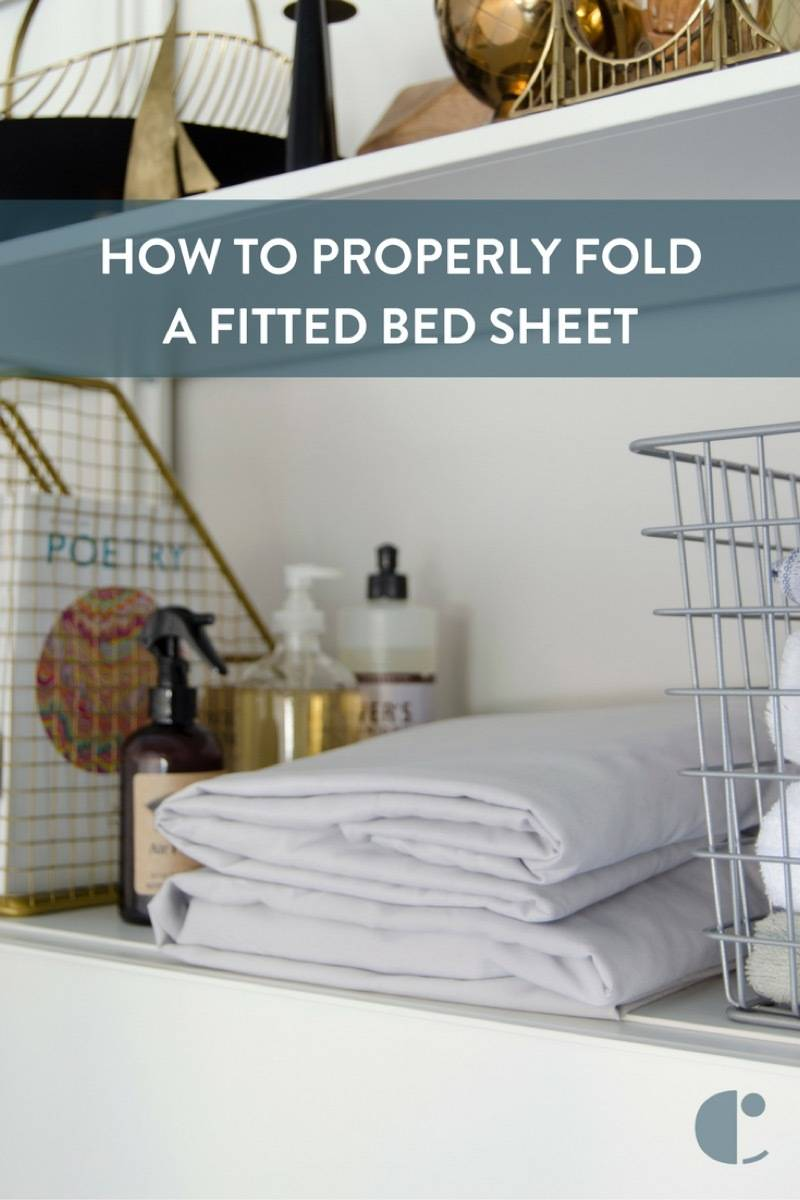 A folded fitted sheet - it can be done!