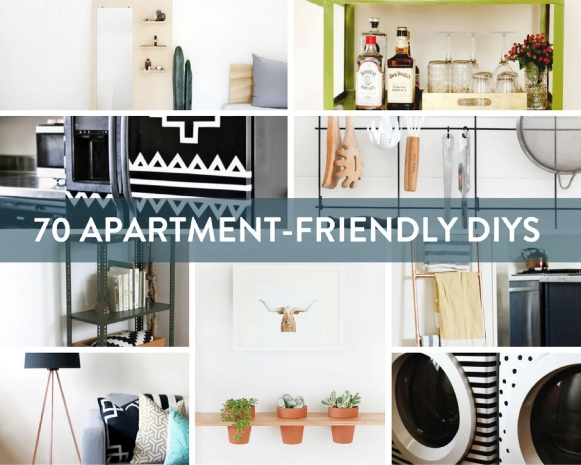 70 amazing apartment decorating DIYs to totally transform your rental space!