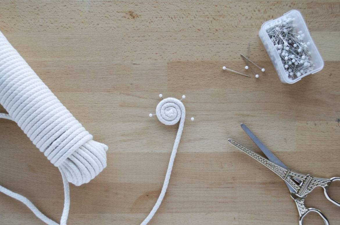 How to sew a cotton coil clothesline basket
