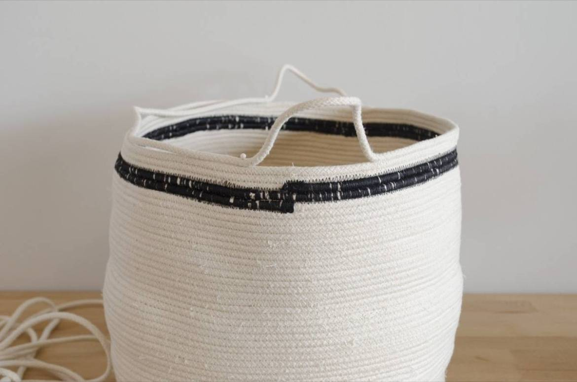 How to make a basket from cotton rope