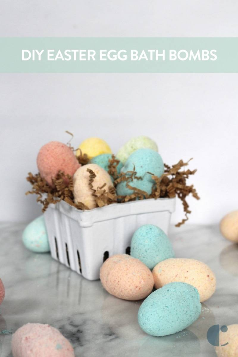 Make These: Brightly colored Easter egg bath bombs!