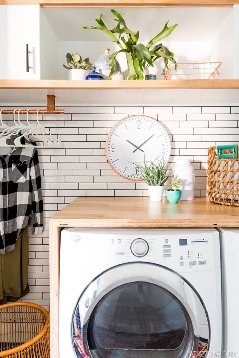 Built-in folding station | 72 Organization Tips and Projects for Every Space in Your Home