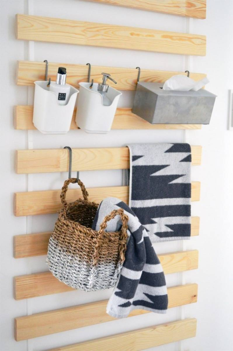 Interchangeable pallet system | 72 Organization Tips and Projects for Every Space in Your Home