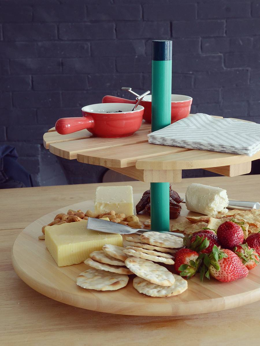 IKEA Hack: Spinning Tiered Serving Tray
