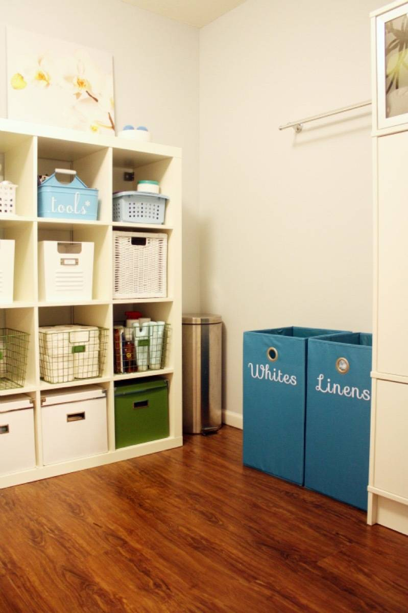 Iron-on labels make sorting laundry a breeze | 72 Organization Tips and Projects for Every Space in Your Home