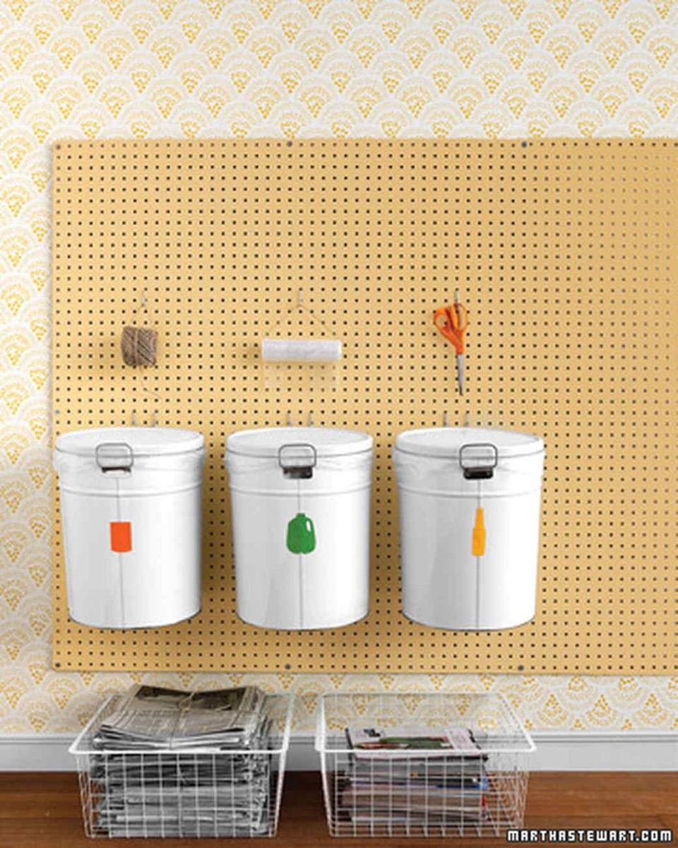 Recycling Station | 72 Organization Tips and Projects for Every Space in Your Home
