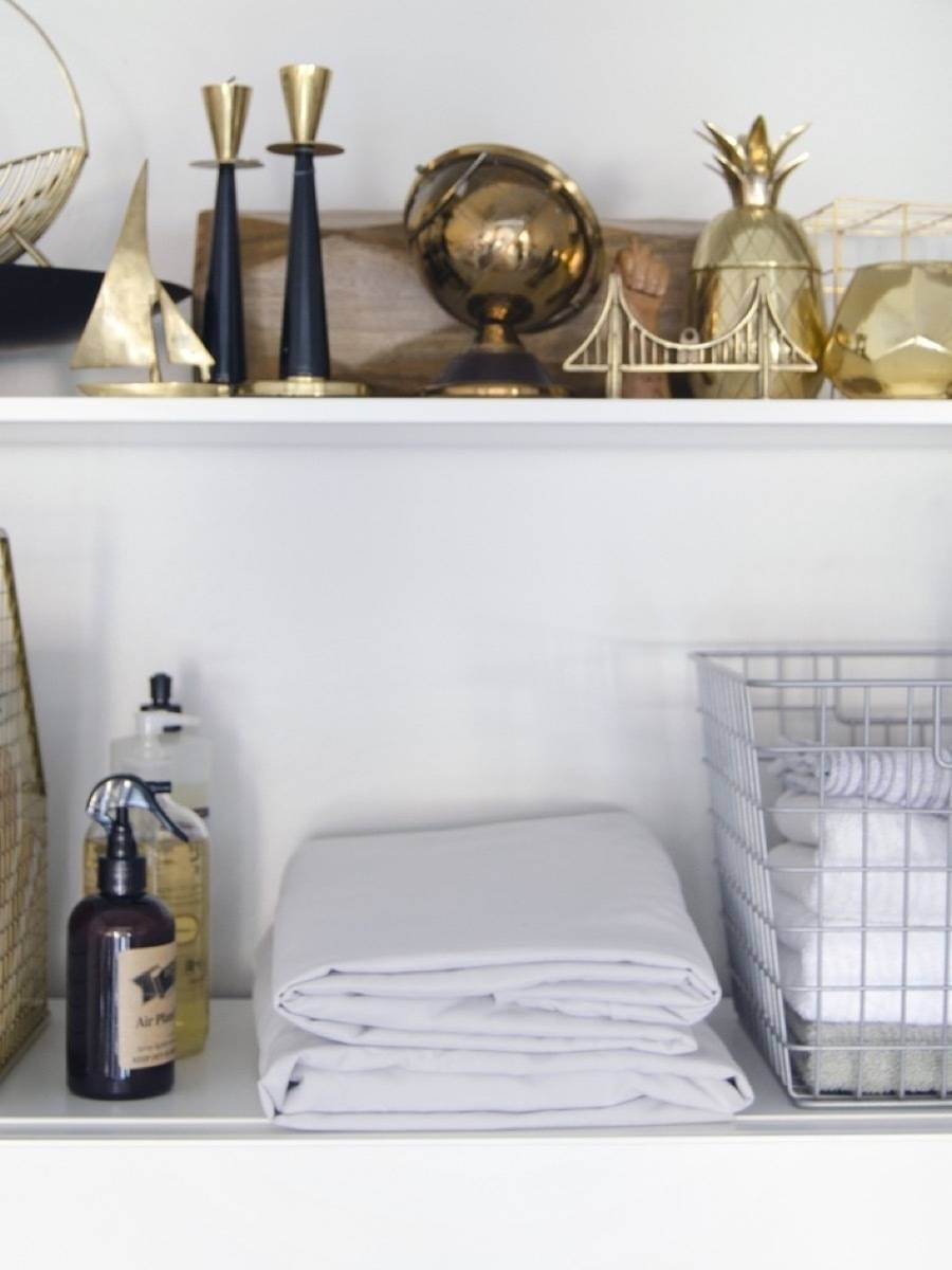 Learn how to actually fold a fitted sheet | 72 Organization Tips and Projects for Every Space in Your Home